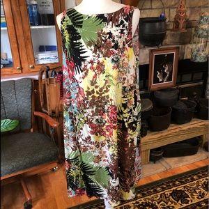 J.Jill size Large sleeveless dress multicolored